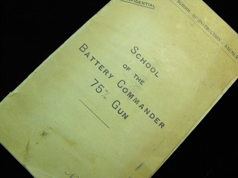 1917 Field Battery Commander Instruction Book