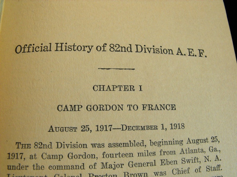 """All American"" Division, 1917-1919 Book (First Edition)"