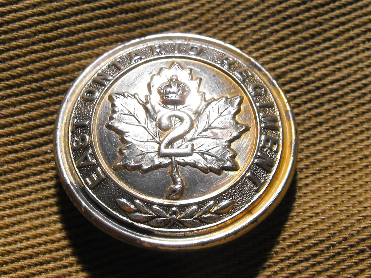 WW1 Cdn. 2nd Bn. Button
