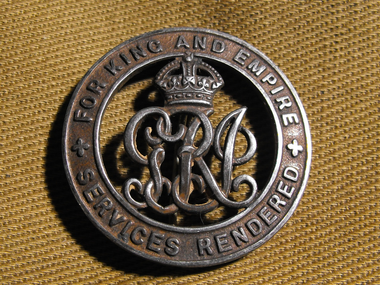 For King & Empire Badge