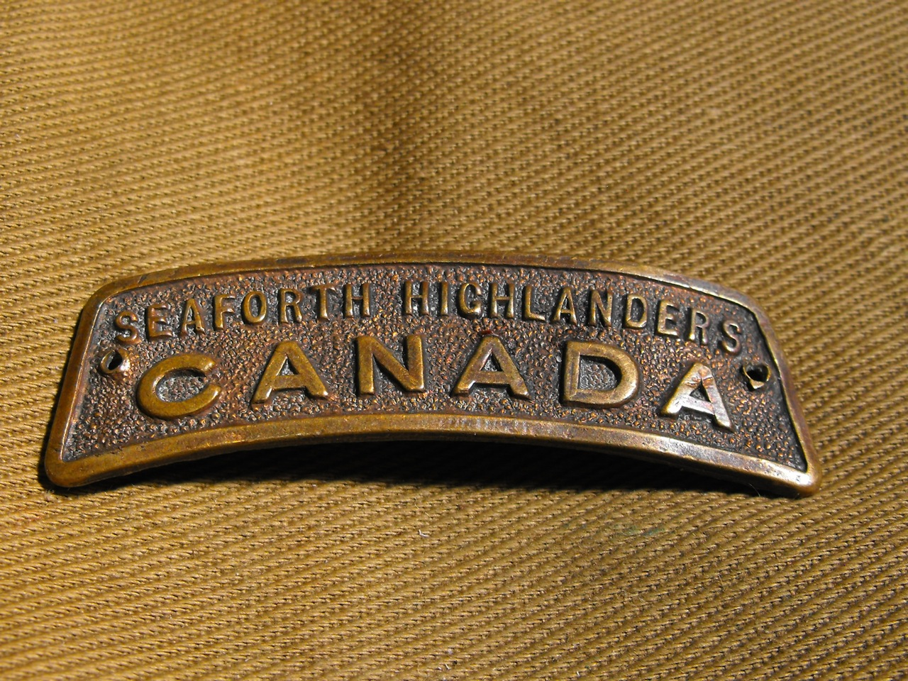 Seaforth Highlander Shoulder Title