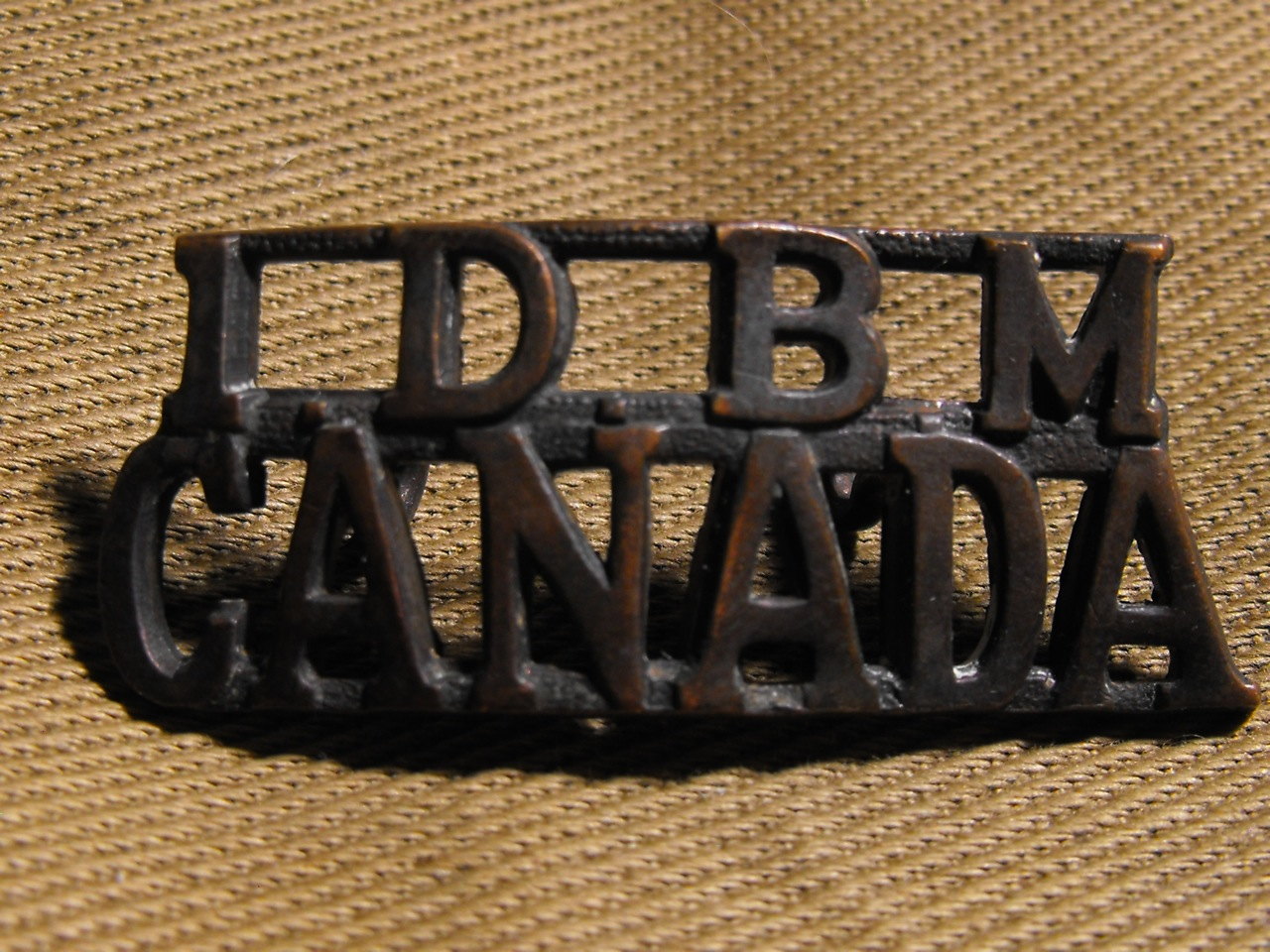 1st Depot BN Manitoba Shoulder Title