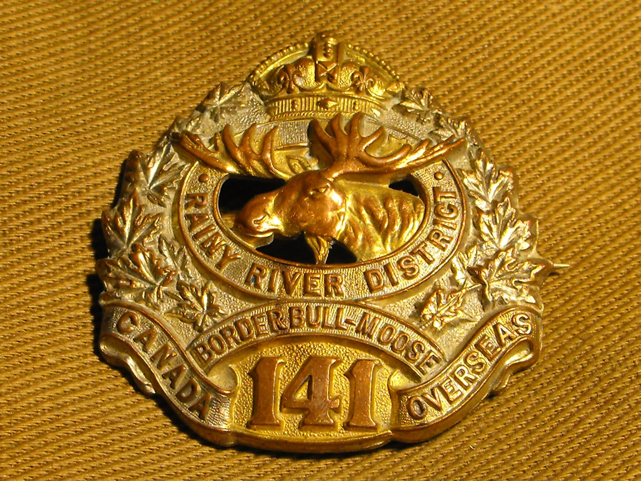 141st Bn (Rainy River, Border) Cap Badge
