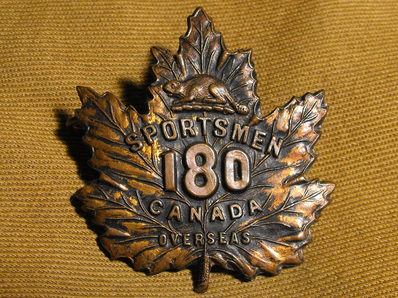 180th Bn (Toronto Sportsmen) Cap Badge