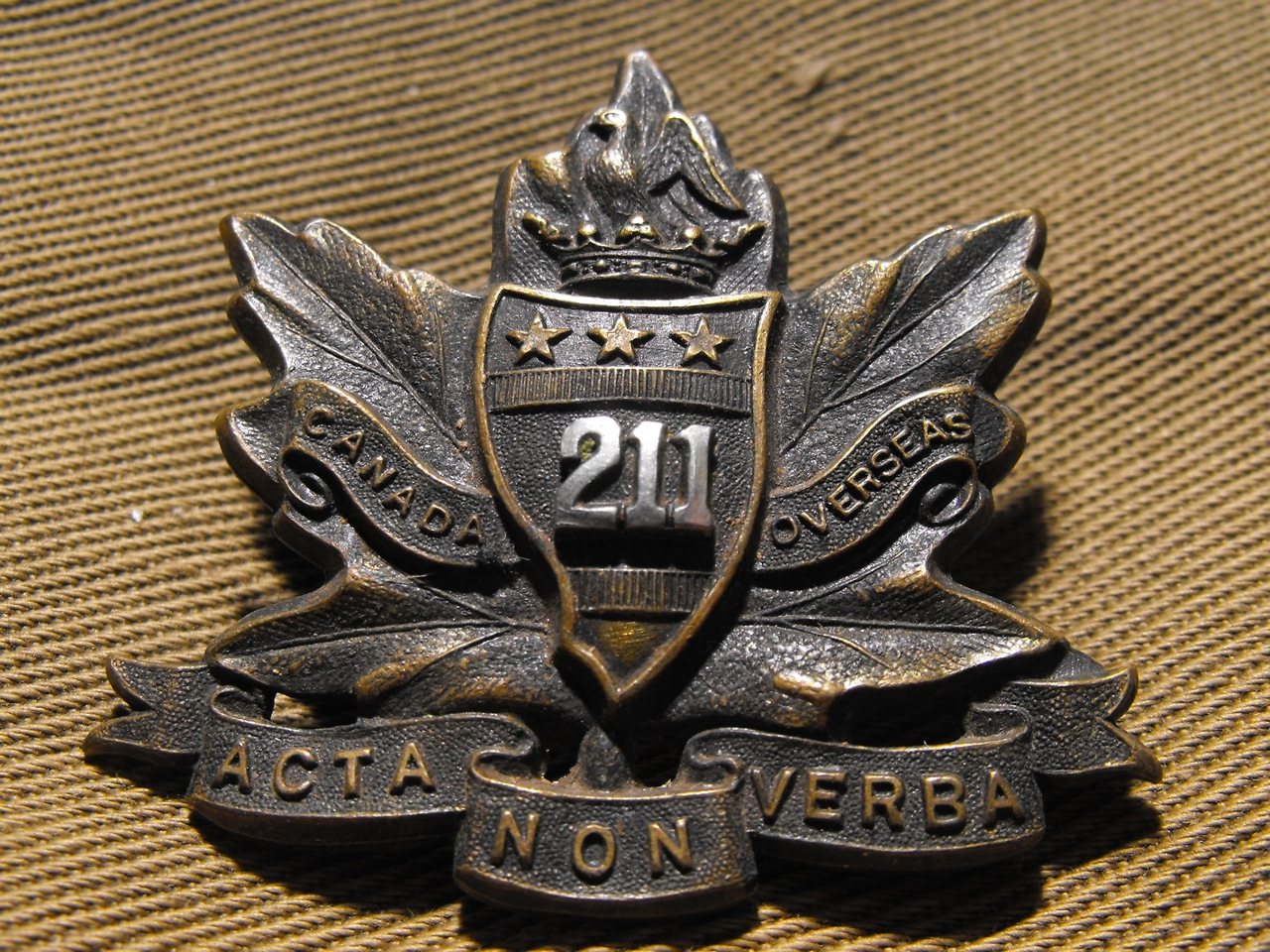 211th Bn (Alberta Americans) Cap Badge