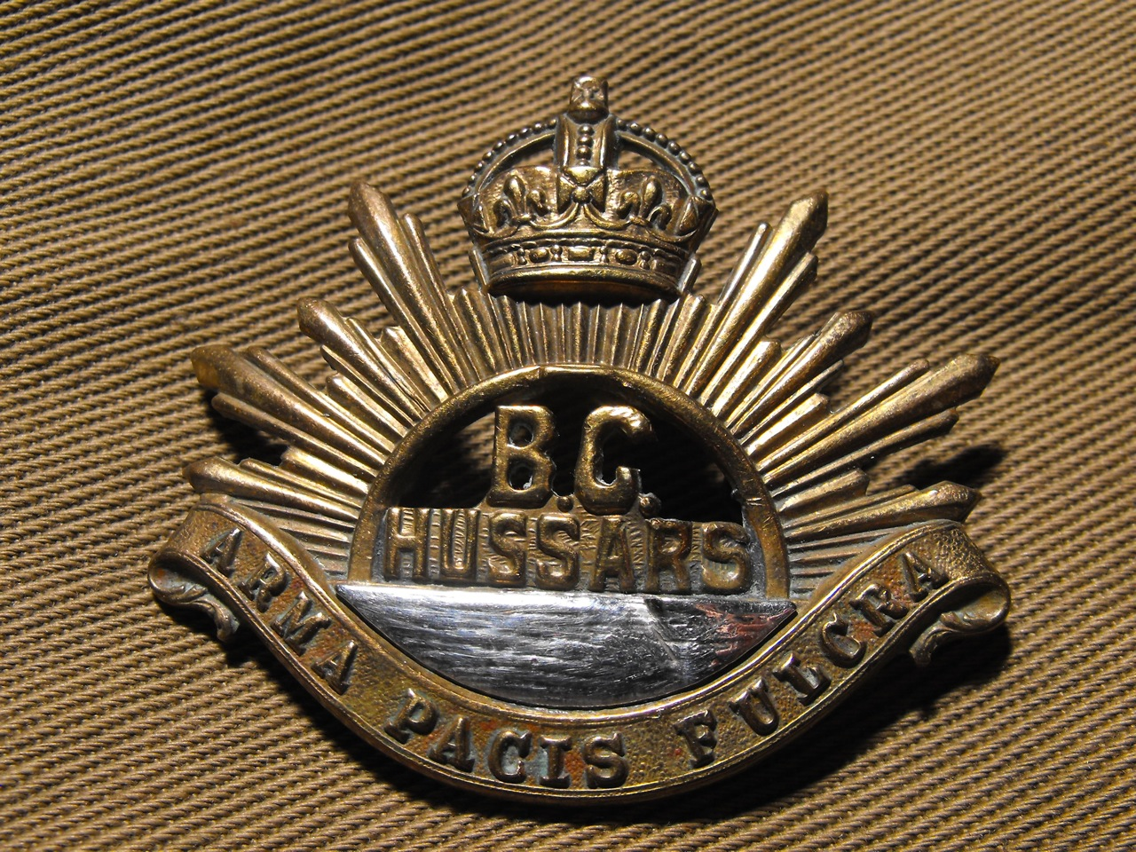 31st B.C. Horse Cap Badge