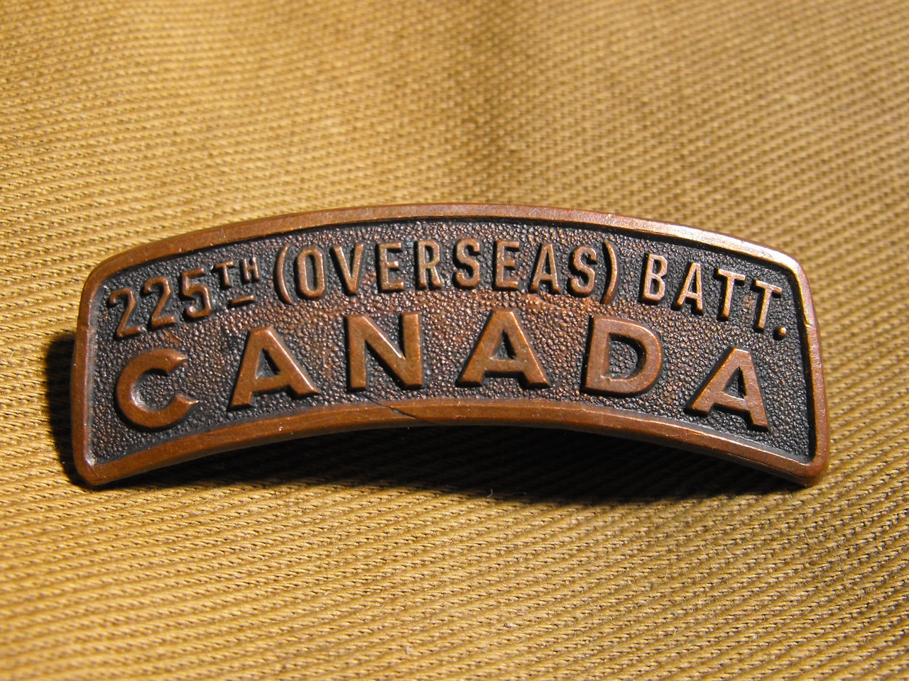 225th Bn (Kootenay) shoulder Title