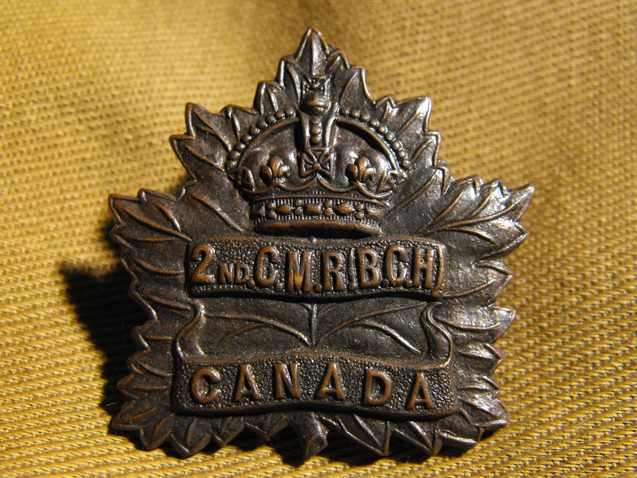 2nd CMR (B.C. Horse) Cap Badge