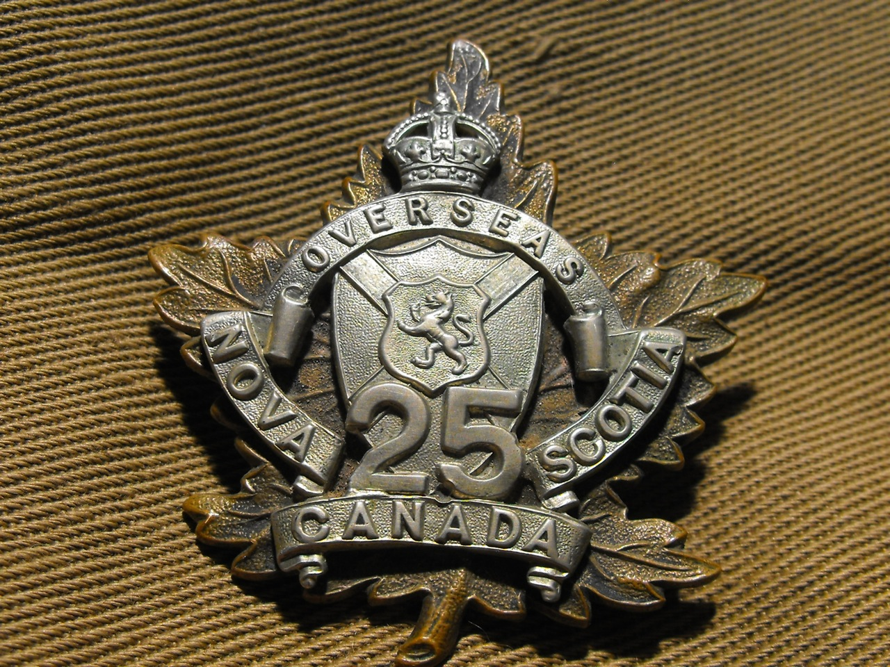 25th Bn Officers Cap Badge