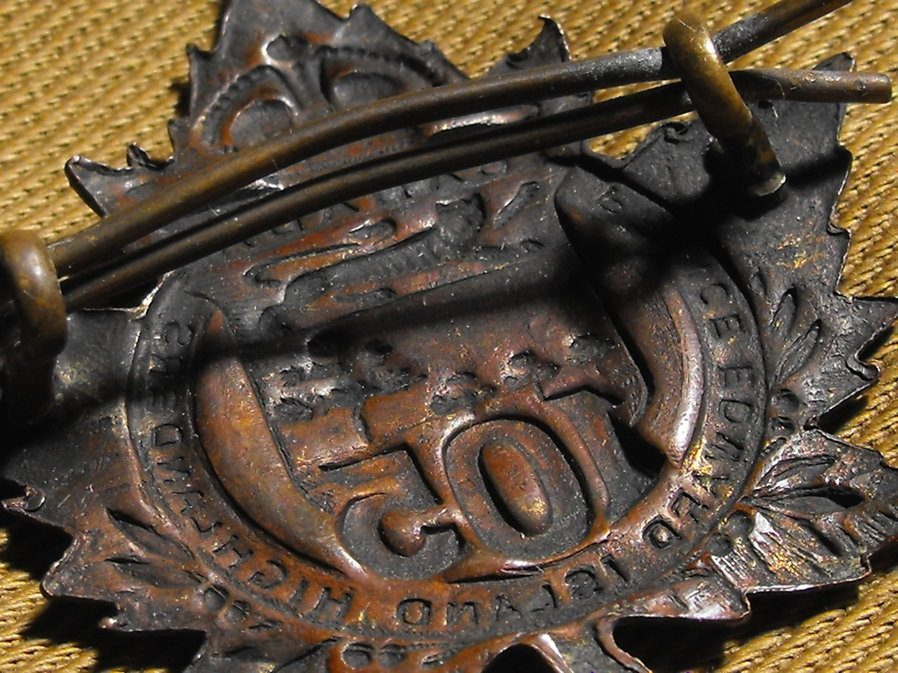 105th Bn. New Brunswick Cap Badge