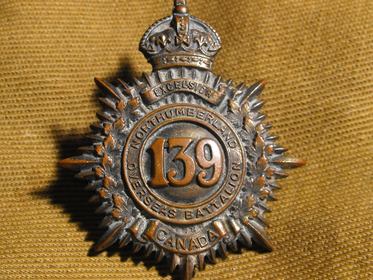 139th Bn. Northumberland Cap Badge