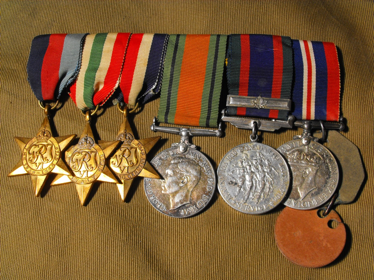 RCAF Second War Medal Grouping of 6