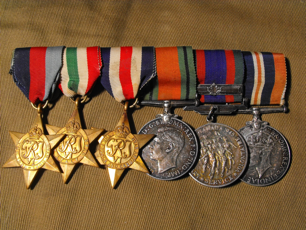 WW2 Canadian Medal Grouping of 5