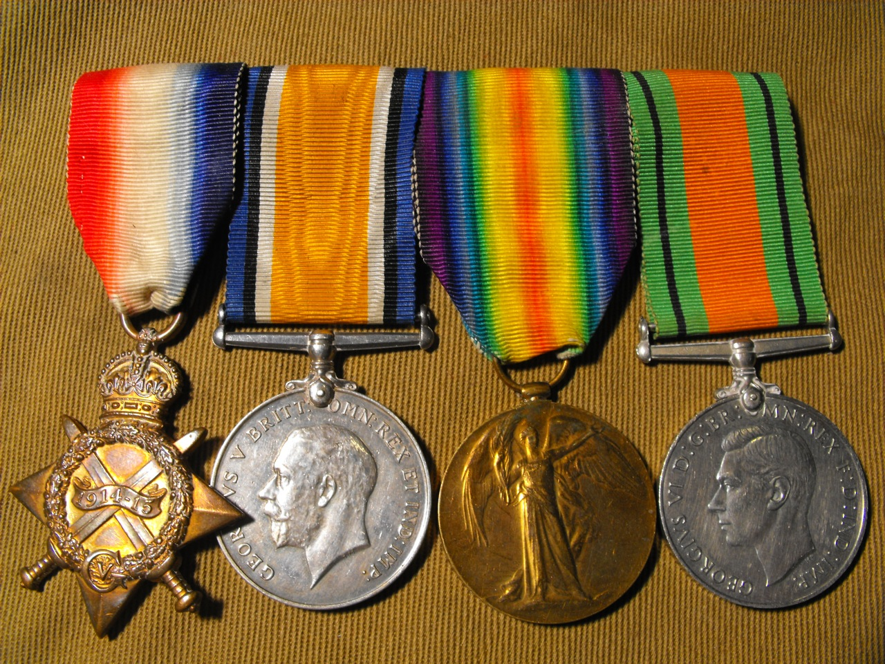 British WW1 Medal Group of 4