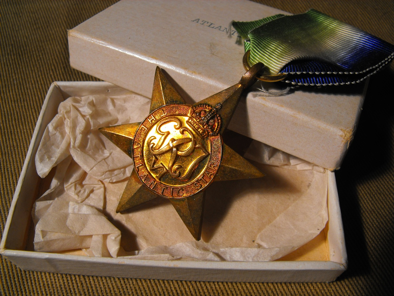 Atlantic Star Medal with Box