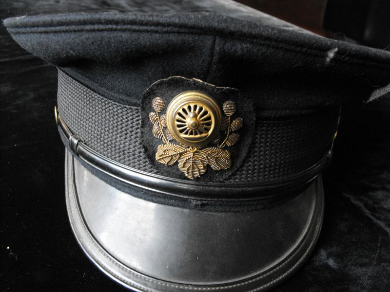 WWII Japanese Railway Train Official Cap