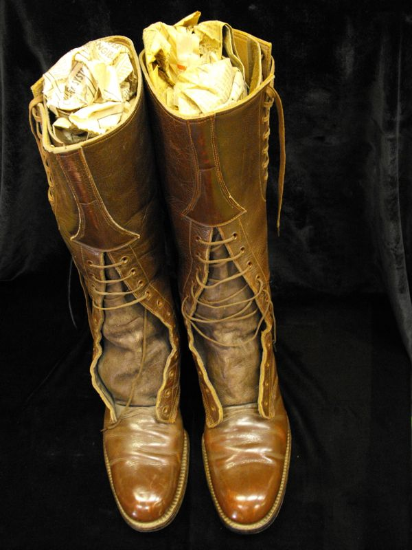 WWI Type Canadian Army Officer's Boots